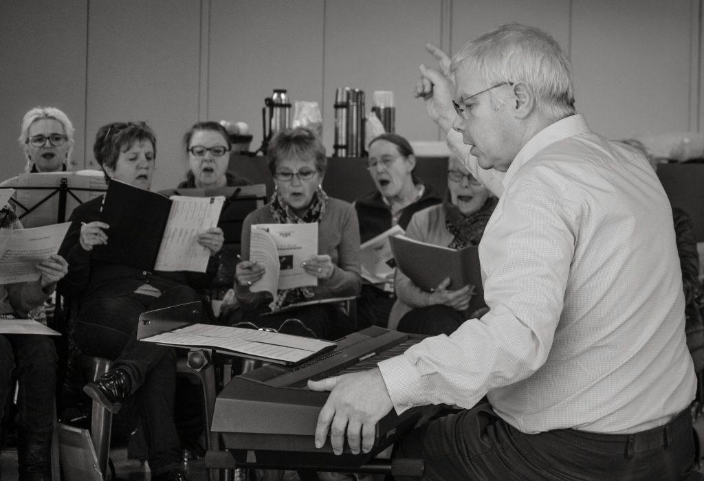 Choeur de l'Aude : répétition