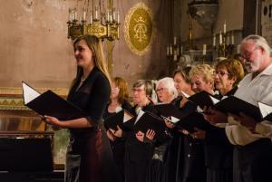 Concert du Choeur de l'Aude à Lagrasse, avec Julia Pastor